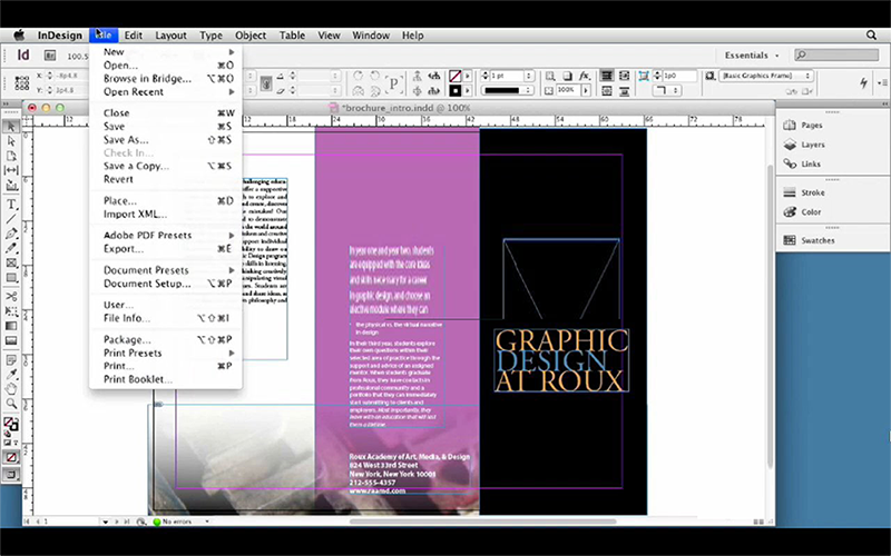 InDesign Exential
